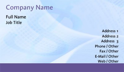 Balance Sheet Business Card Template